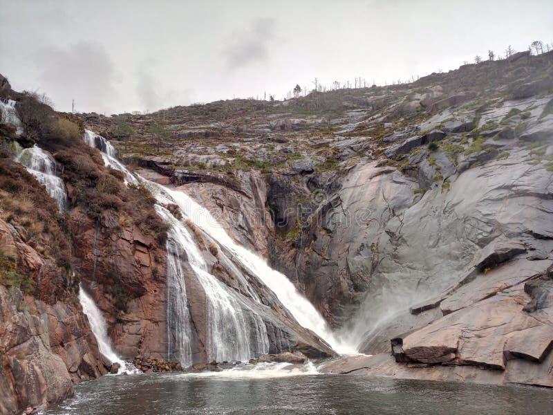 Ezaro waterfall royalty free stock images