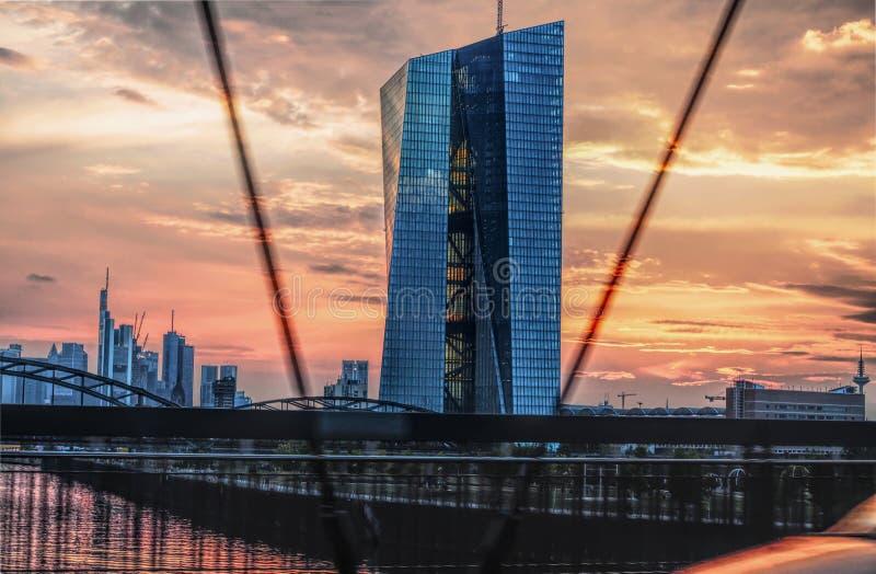 EZB Frankfurt royalty-vrije stock fotografie