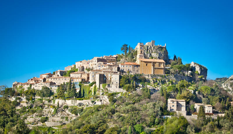 Eze old Village in Alpes-Maritimes France. royalty free stock photos