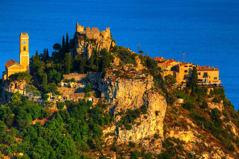 Eze village. Beautiful village of eze on the french riviera france cote d'azur stock image