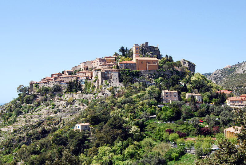 Download Eze village stock photo. Image of coastal, alpens, european - 5241020