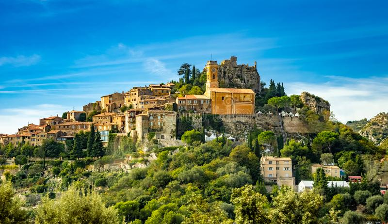 Eze wioska na Francuskim Riviera obrazy stock