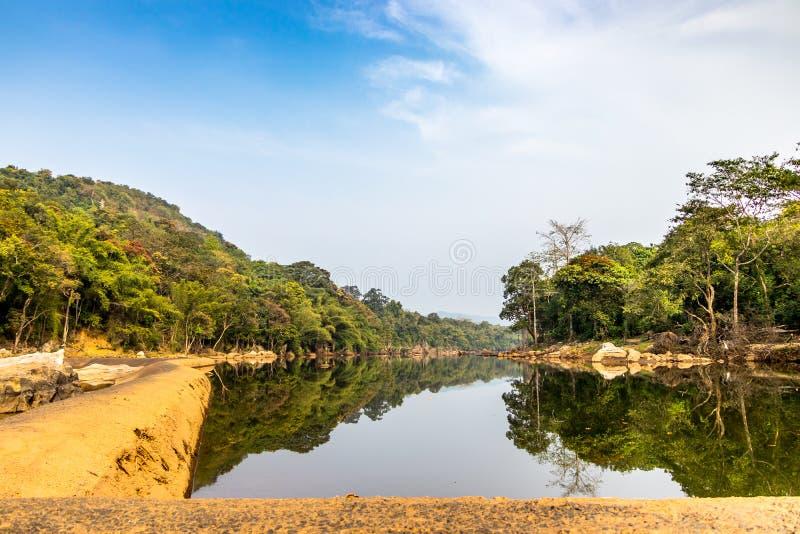 Ezhattumugham деревня страны в районе Ernakulam Кералы Индии стоковые изображения rf
