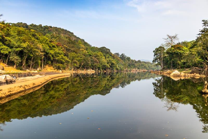 Ezhattumugham деревня страны в районе Ernakulam Кералы Индии стоковые изображения