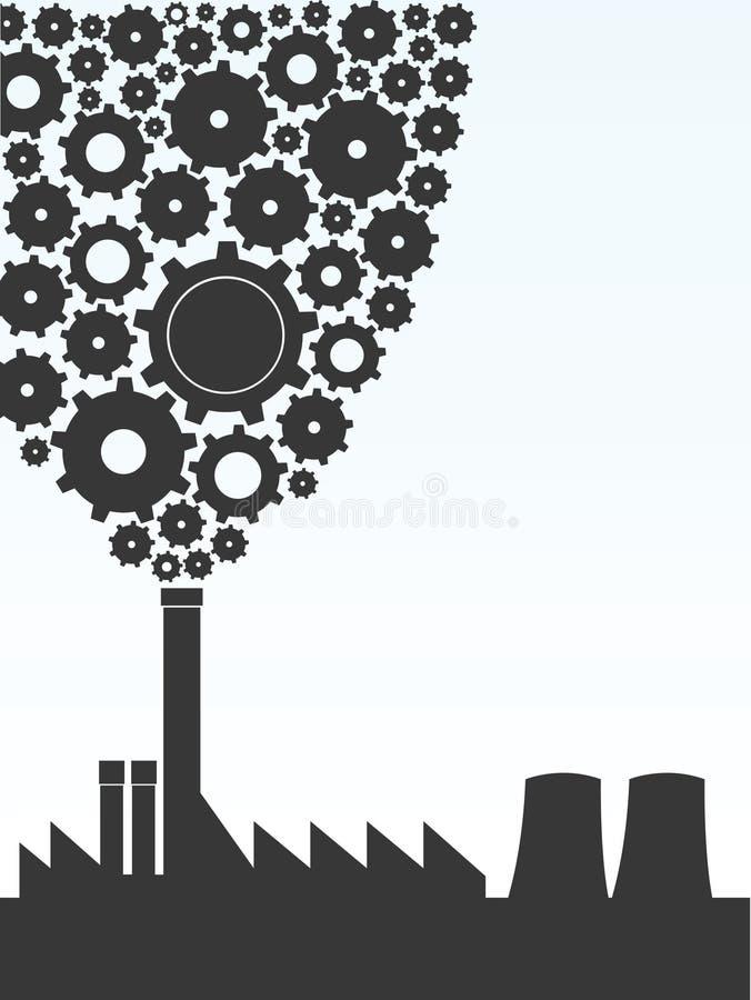 Fábrica ilustración del vector