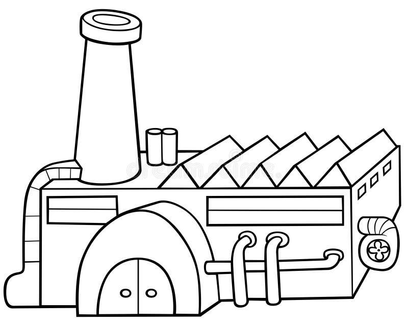 Fábrica ilustração stock