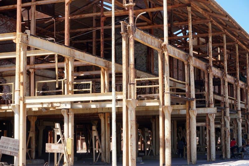 Fábrica abandonada en Santa Rosalia Mexico imágenes de archivo libres de regalías
