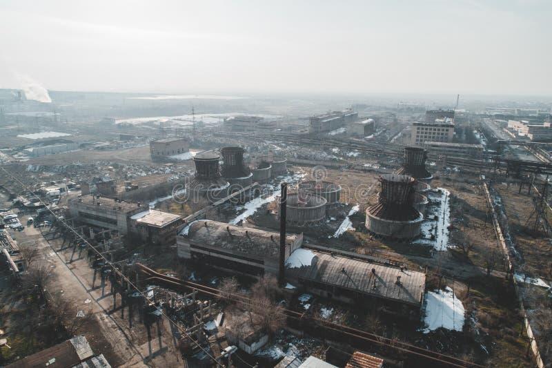Fábrica abandonada urbana fotos de stock royalty free