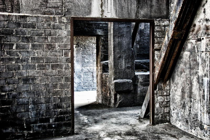 Fábrica abandonada vieja foto de archivo libre de regalías