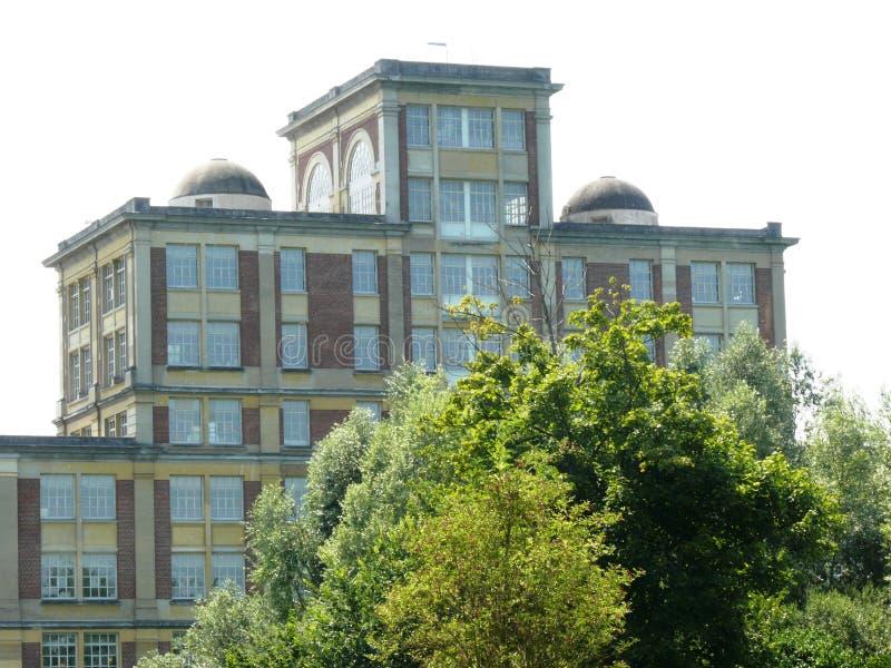Fábrica anterior Menier del chocolate en Noisiel en el Sena y Marne, propiedad de Nestlé imagenes de archivo