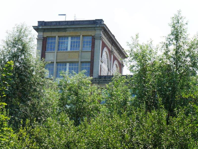 Fábrica anterior Menier del chocolate en Noisiel en el Sena y Marne, propiedad de Nestlé imagen de archivo