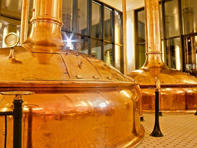 Fábrica antigua de la cerveza fotos de archivo