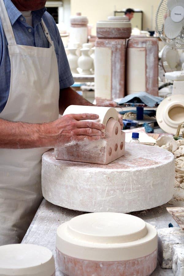 Fábrica da cerâmica de Belleek imagens de stock royalty free