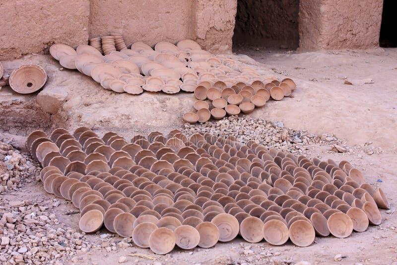 Fábrica da cerâmica em Marrocos imagem de stock royalty free