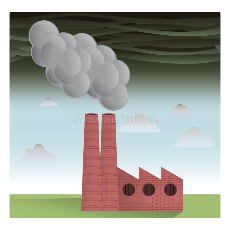 Fábrica da poluição foto de stock