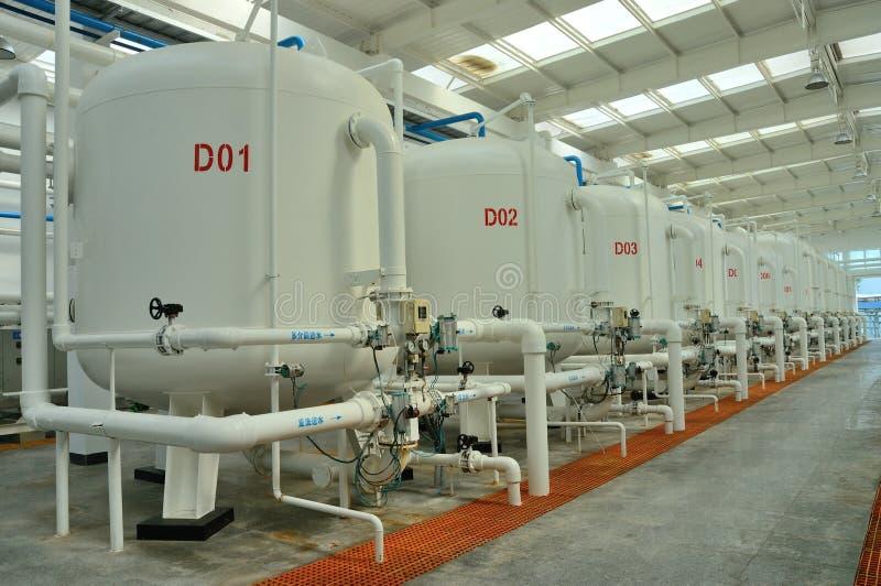 Fábrica da purificação de água foto de stock royalty free