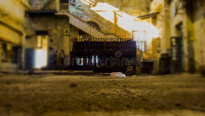 Fábrica de Abonded imagen de archivo