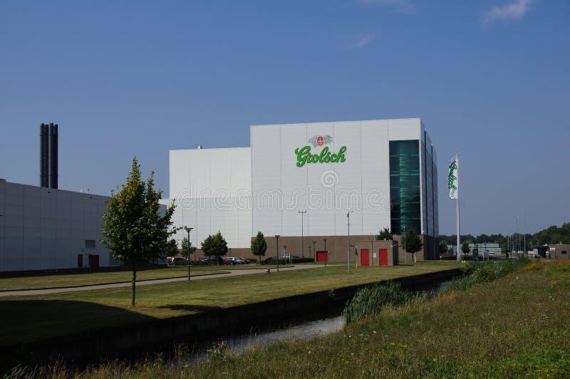 Fábrica de Grolsch em Enschede fotos de stock
