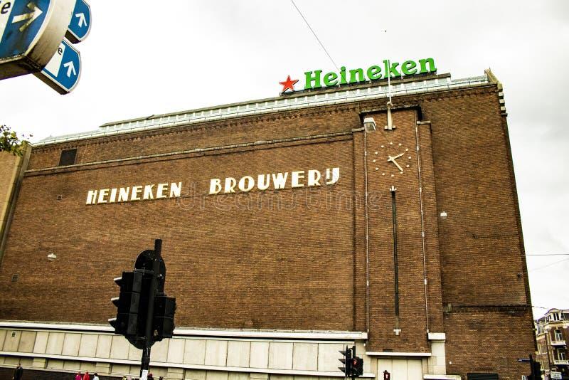 A fábrica de Heineken, os Países Baixos, Amsterdão imagens de stock