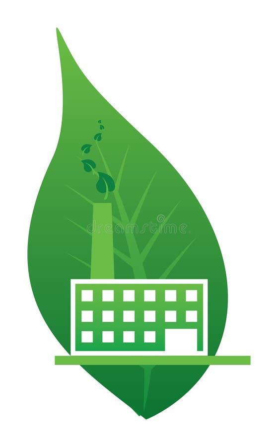 Fábrica de la ecología stock de ilustración