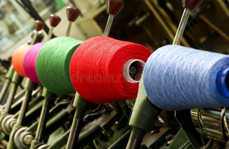 Fábrica de la materia textil fotos de archivo libres de regalías