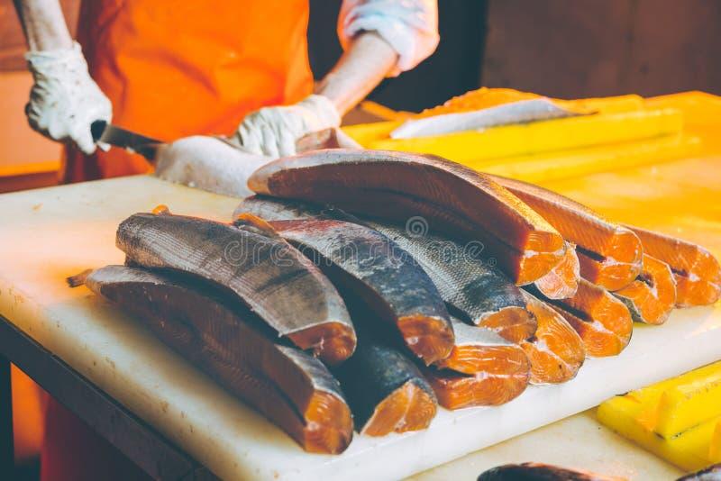 Fábrica de los mariscos de los pescados fotos de archivo libres de regalías