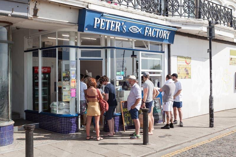 Fábrica de los pescados de Peter fotografía de archivo libre de regalías