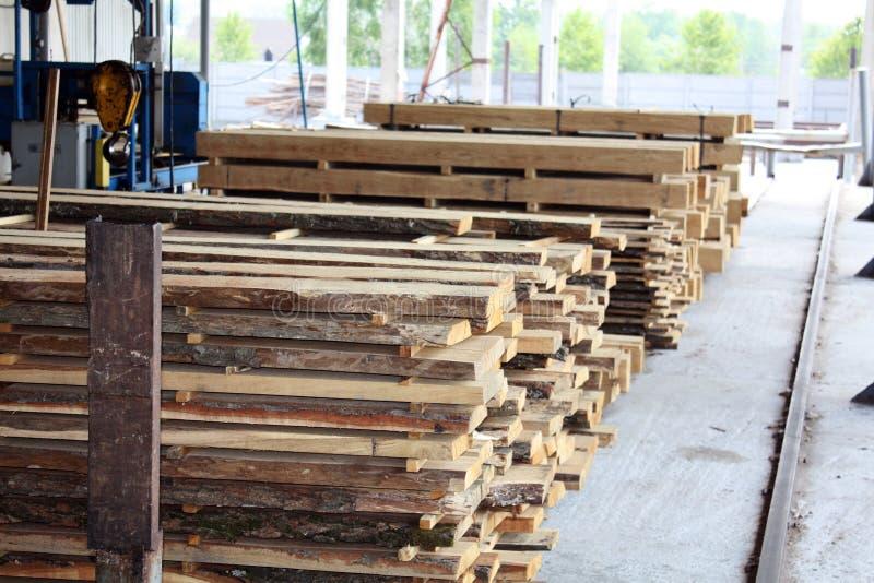 Fábrica de madera fotografía de archivo