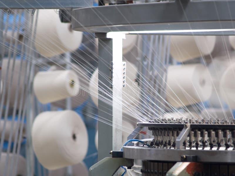 Fábrica de matéria têxtil imagem de stock
