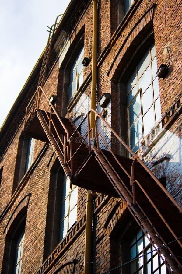 Escadas da fábrica imagens de stock