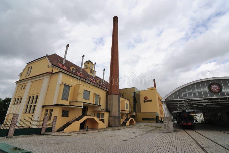 Fábrica de Pilsner Urquell fotografía de archivo
