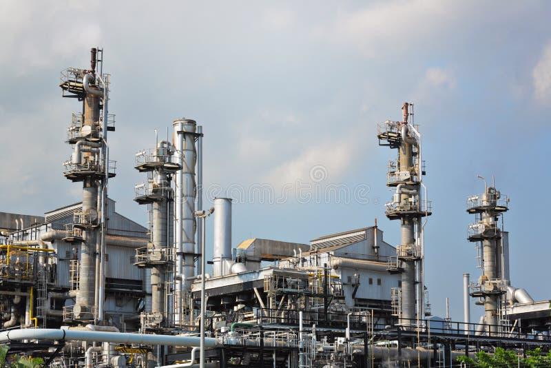 Fábrica de processamento do gás fotos de stock