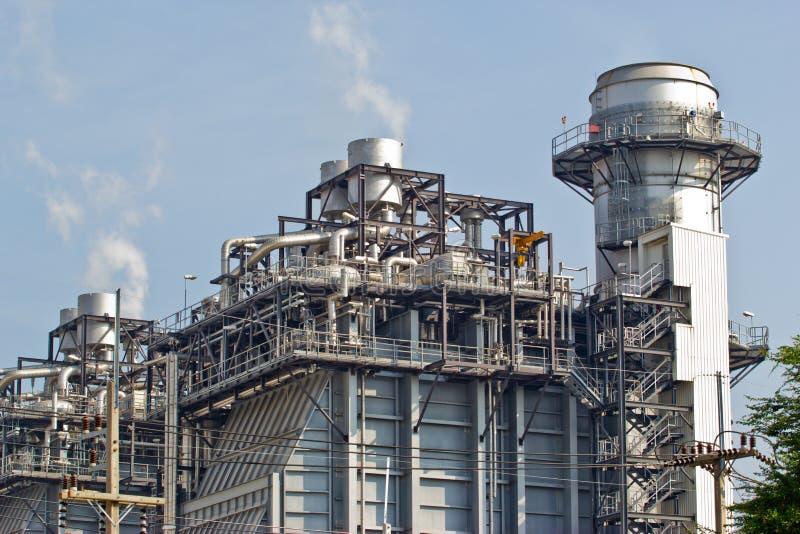 Fábrica de processamento do gás imagem de stock royalty free