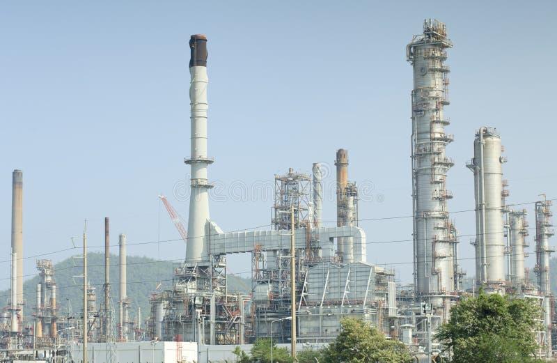 Fábrica de processamento do gás da vista imagem de stock royalty free