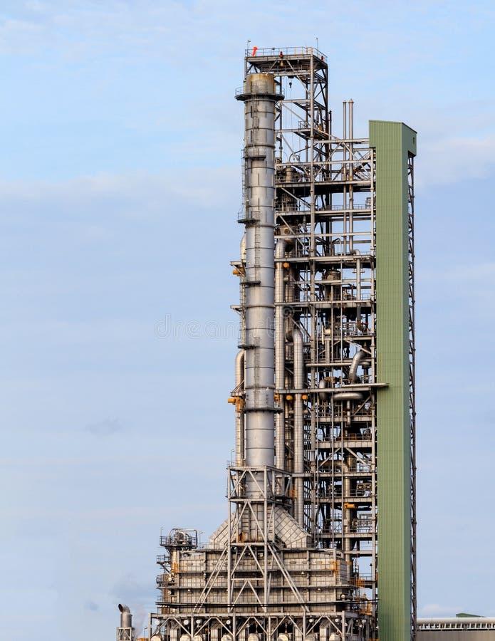 Fábrica de processamento do gás da vista foto de stock