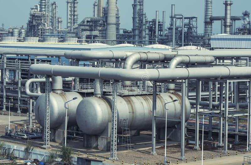 Fábrica de processamento do gás Paisagem imagens de stock