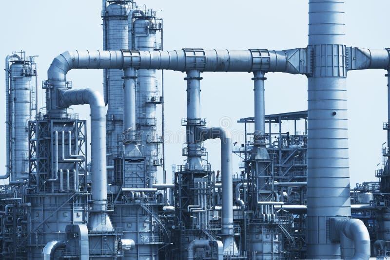 Fábrica de processamento do gás Paisagem fotografia de stock