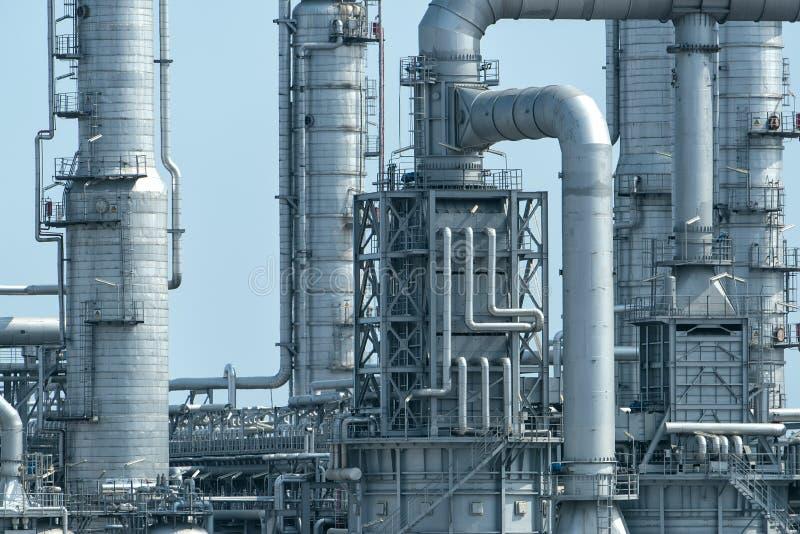 Fábrica de processamento do gás Paisagem fotos de stock