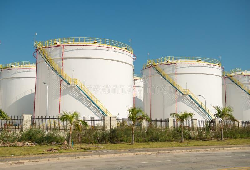 Fábrica de processamento do gás Paisagem foto de stock
