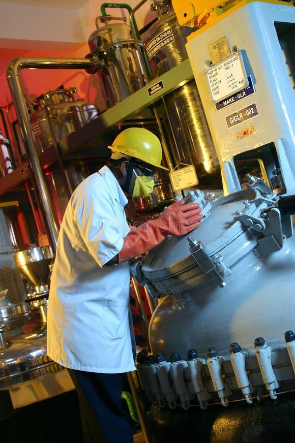 Fábrica de productos químicos imagen de archivo