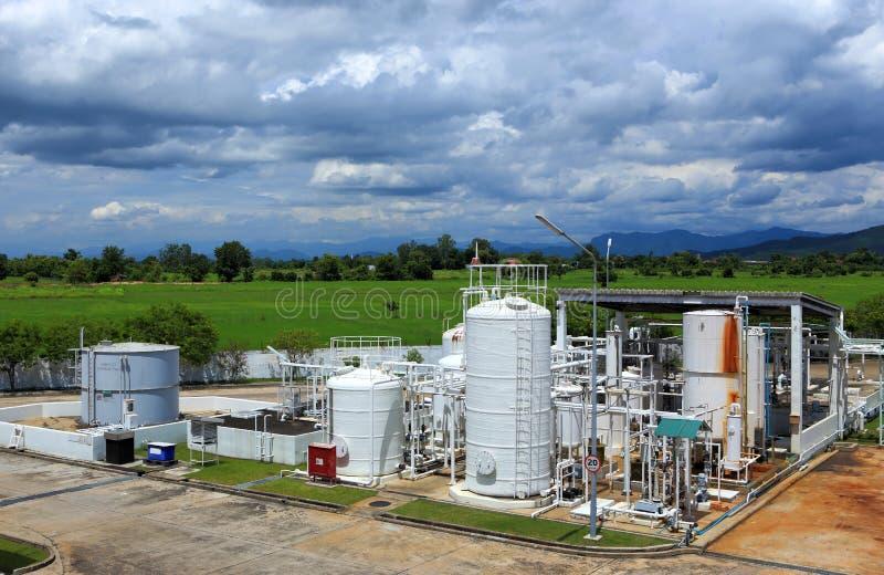 Fábrica de productos químicos del nitrógeno para la fábrica fotografía de archivo libre de regalías