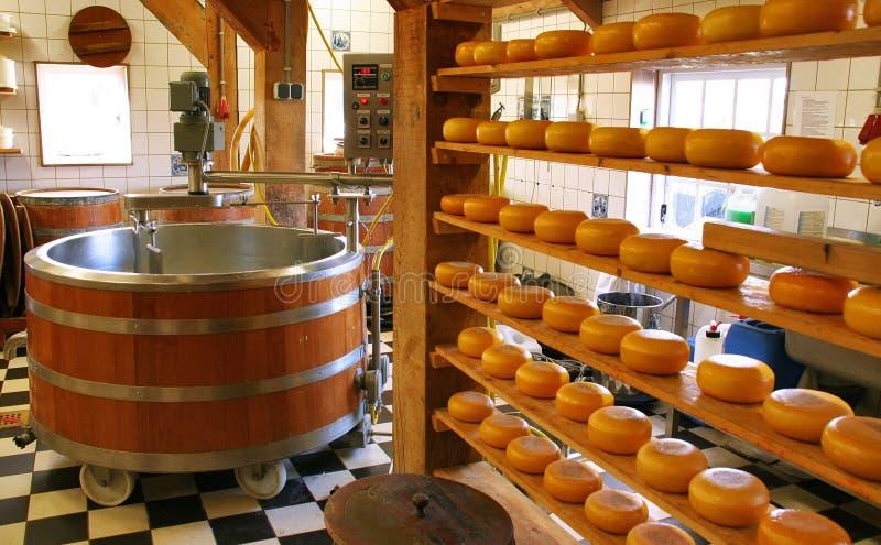 Fábrica de queijo foto de stock