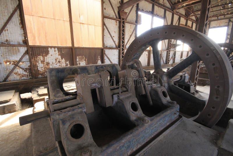 Fábrica de tratamento do salitre de Santa Laura Humberstone, Iquique, o Chile fotos de stock