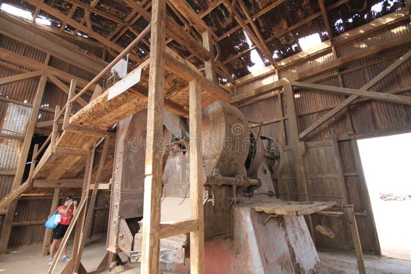 Fábrica de tratamento do salitre de Santa Laura Humberstone, Iquique, o Chile fotos de stock royalty free