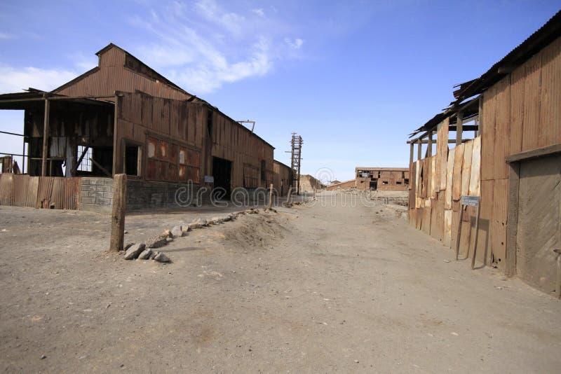 Fábrica de tratamento do salitre de Santa Laura Humberstone, Iquique, qui imagem de stock