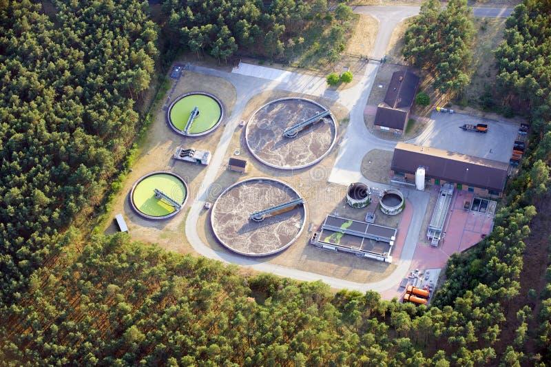 Fábrica de tratamento do Wastewater imagem de stock
