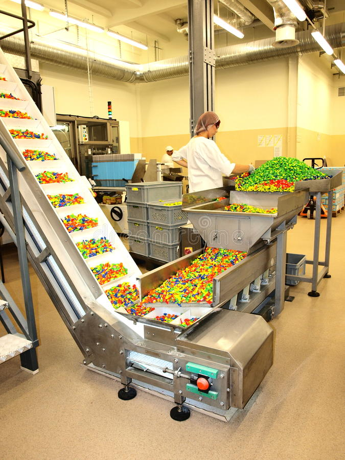 Fábrica del caramelo, Lublin, Polonia fotografía de archivo