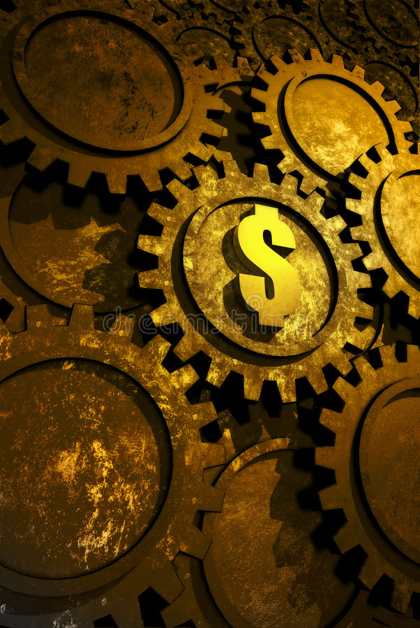 Fábrica del dinero ilustración del vector