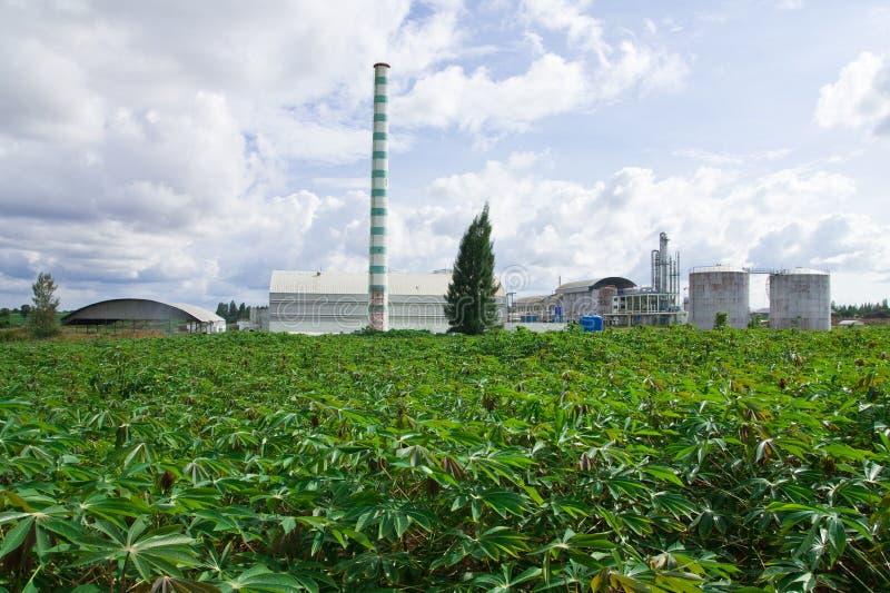 Fábrica del etanol fotografía de archivo