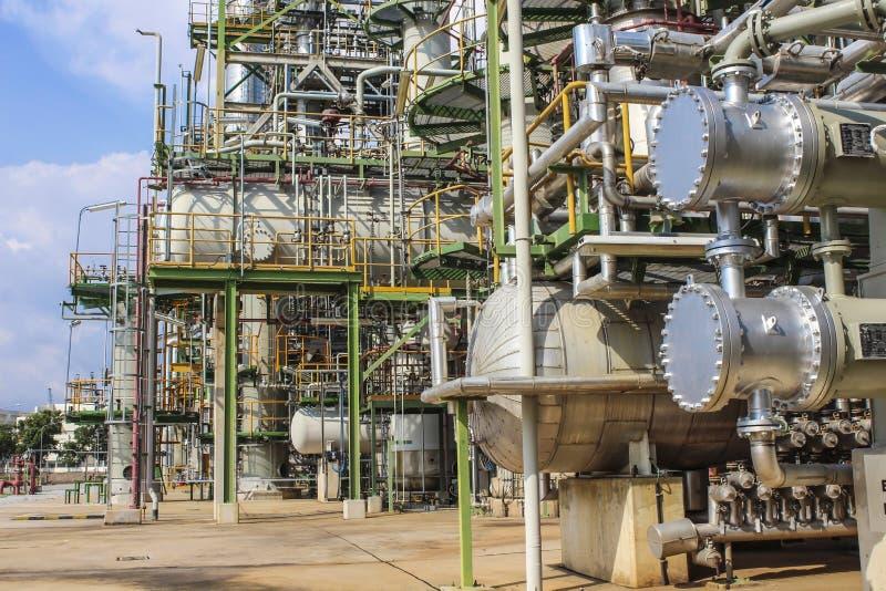 Fábrica del petróleo y del producto químico fotografía de archivo